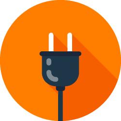 Illustration mit einem Stromstecker